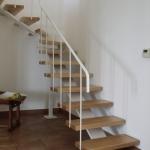 Scala in legno ed acciaio per interni 06