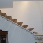 Scala in legno ed acciaio per interni 08