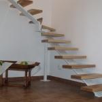 Scala in legno ed acciaio per interni 10