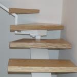 Scala in legno ed acciaio per interni 17