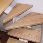 Scala in legno ed acciaio per interni 18
