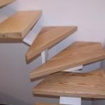 Scala in legno ed acciaio per interni 19