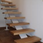 Scala in legno ed acciaio per interni 22