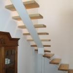 Scala in legno ed acciaio per interni 24