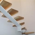 Scala in legno ed acciaio per interni 25