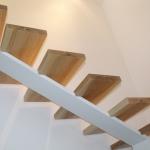 Scala in legno ed acciaio per interni 26