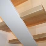 Scala in legno ed acciaio per interni 27