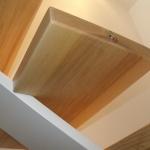 Scala in legno ed acciaio per interni 29