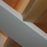 Scala in legno ed acciaio per interni 30