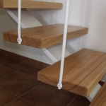 Scala in legno ed acciaio per interni 37