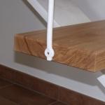 Scala in legno ed acciaio per interni 38