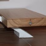 Scala in legno ed acciaio per interni 40